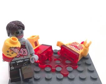 Mmm...   Blood n' Guts n' Brains Custom Lego Zombie Set