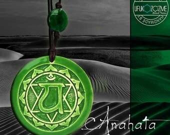 Hand Made Ceramic Necklace-Heart-Anahata Chakra