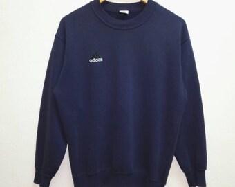 Vintage Sweatshirt Adidas small embroidered Logo Blue Black colour nice condition