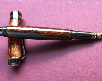 Classic Cocobolo Wood Fountain Pen