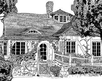 Summer House  - digital print