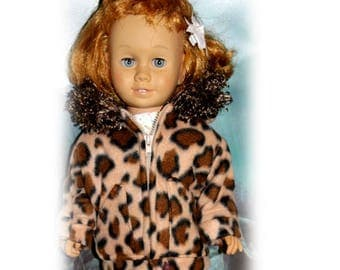 One Fleece Winter Coat with Hood, Snap & Zipper for 20'' Dolls the size of Vintage Chatty Cathy (Coat only, doll and clothes not included)