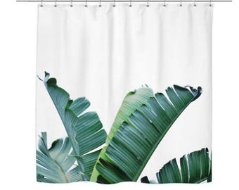 Tropical Banana Leaf Shower Curtain