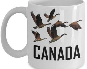 Canada Goose Coffee Mug Geese In Flight Canadian Gift