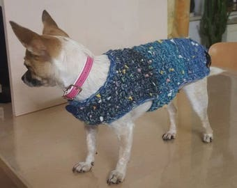 Dog coat Gr. XS, hand knitted