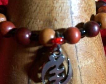 Gye Nyame Wood Bracelet