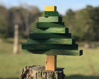 Rustic Wooden Christmas Tree Decoration
