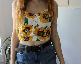 sunflower cropped tank