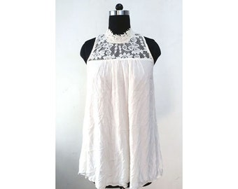 Rayon Crepe lace top