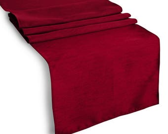 lovemyfabric Faux Silk Solid Table Runner For Wedding / Bridal Shower Birthday / Baby Shower Special Events and Home Decor