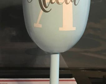 Custom 10 oz Double Insulated Wall Stainless Steel Wine Goblet