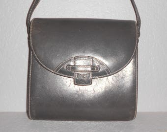 Liz Claiborne SPORT vintage women's gray leather shoulder bag