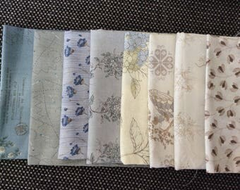 Japanese 'taupe' patchwork cotton.