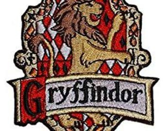 Harry Potter Gryffindor 4 Inch Sew On or Iron On Application Applique Patch- FREE DOMESTIC SHIPPING