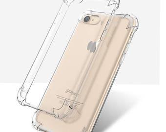 Transparent Anti Break Shock Proof Drop Resistant Case for iPhone 7 plus ,iPhone 6s plus, iPhone 6 plus (5.5 inch screen only)