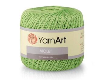 Violet YarnArt Mercerized cotton Yarn for knitting Crochet yarn Cotton yarn Summer yarn Cotton yarn Hand knit yarn Color choice Amigurumi