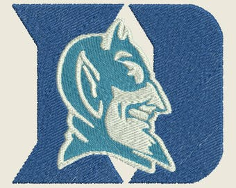 Duke University Blue Devils Logo machine embroidery design