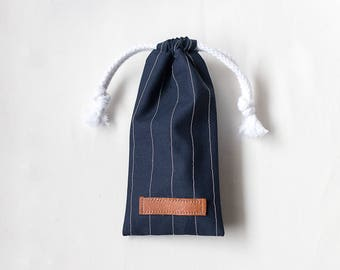 The Striped Sunny Pouch | Drawstring Pouch | Eyeglass Protector | Made in Finland By Sandramaria