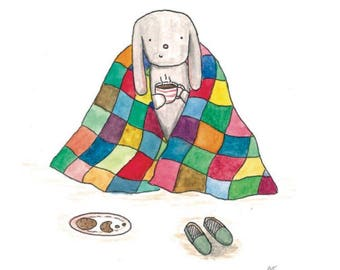 Christmas/ Greetings Card- 'Snuggle Blanket'