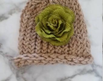 Beautiful Adorn Me Beanie Hand Knit Hat