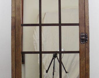 Vintage large window mirror campaign factory Old window mirror campaign