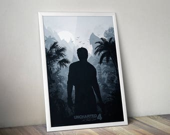 Uncharted 4 A Thieve's End fan art poster 13x19""