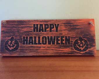 Halloween sign. Free shippng. Happy Halloween. Halloween decor , Halloween decoration, Halloween party decoration