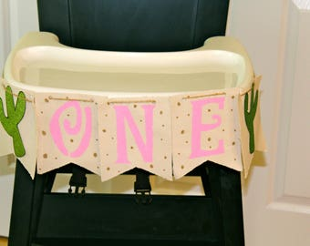 Highchair Birthday Banner