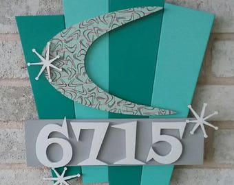 Retro House Number Sign Making a Mint in Vegas