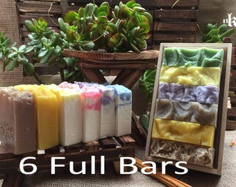 All Natural Handmade Everyday Cold Process soap. Olive Oil - Coconut Oil based. Six Full Bars Gift Set