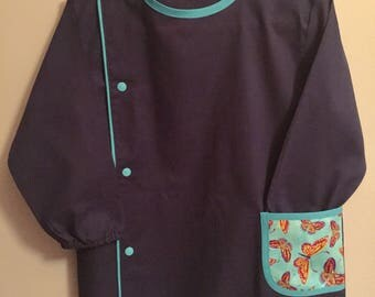 School or activities Blue Navy and Butterfly blouse