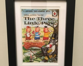 Retro Ladybird Book cover. The Three Little Pigs
