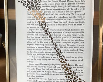 Hand Cut Triangles Altered Book Page