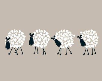 Flock - Sheep Card