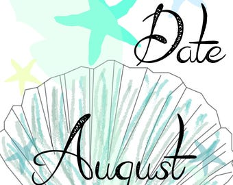 August 2018 Save the Date Postcard