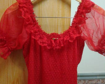 Red 'Frederick's of Hollywood' Lingerie