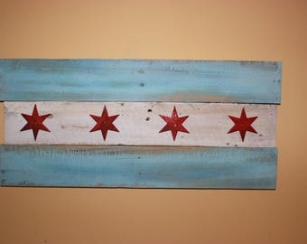 Small pallet wood Chicago Flag
