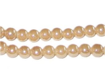 6mm Soft Sand Galaxy Glass Bead, approx. 52 beads
