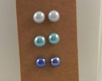 Set of blue earrings