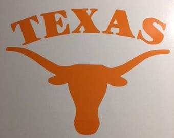 Texas Longhorns Vinyl Decal