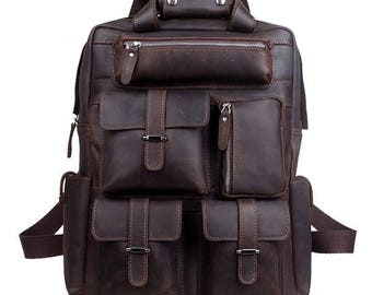 The Survivor | Rich Brown Leather Utility Backpack