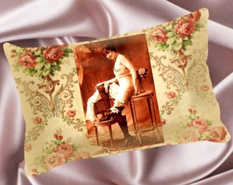 Vintage Pin Up Pillow - Vintage#002