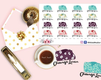 Change Linens Chore Reminder Sticker, Reminder Planner Stickers, Chore Stickers, Scrapbook Sticker, Planner Accessory - 16 Stickers