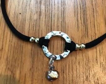 Vegan Leather Lariat Necklace