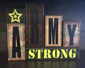 US Army Wood Block Set