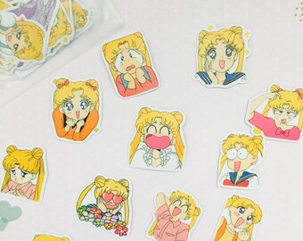 1 pack of kawaii sailor moon sticker flakes/ cute japanese stickers/ japanese stationery