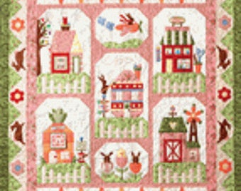 The Quilt Company Bunny Town Piecing & Applique Pattern Set - 7 patterns