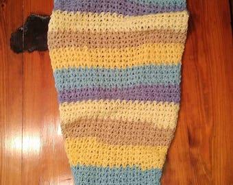 Sky Reflections Crochet Mermaid Tail Lap Blanket