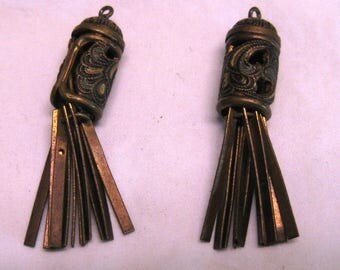 antique brass lantern earring pieces