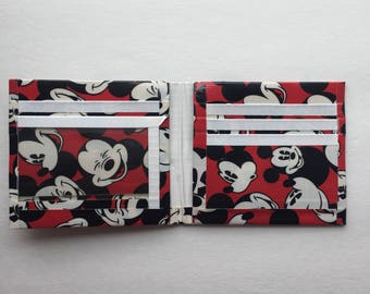 Duct Tape Mickey Mouse and White Bifold Wallet